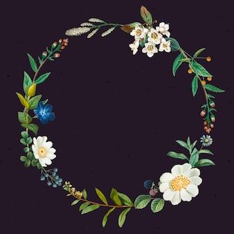 Blumenkranz mit designfläche