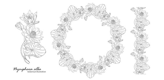 Blumenkranz mit lilienblüten.