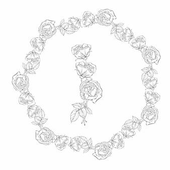 Blumenkranz, schwarze und weiße rosenblüten
