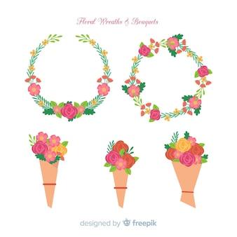 Blumenkranz und Bouquet-Kollektion