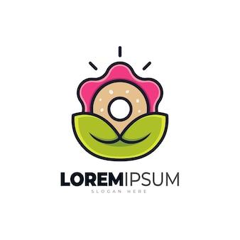 Blumenkrapfen-logo-vorlage