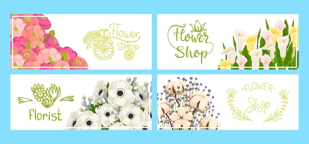 Blumenladen banner gesetzt