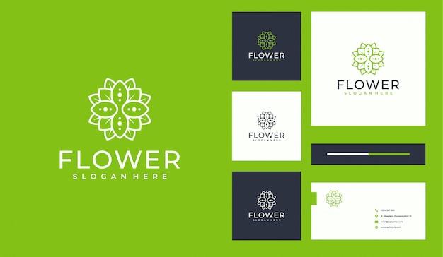 Blumenlinie art logo deisgn
