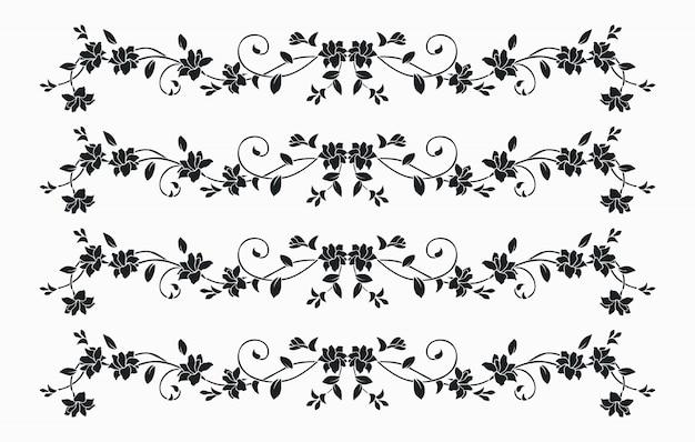 Blumenlinienkunstlogodesign
