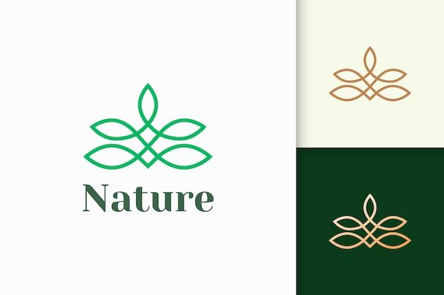 Blumenlogo im femininen und luxuriösen stil steht für gesundheit und schönheit