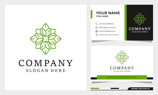 Blumenlogodesign mit strichgrafikstil. logo für spa, schönheitssalon, dekoration, boutique. und visitenkarte