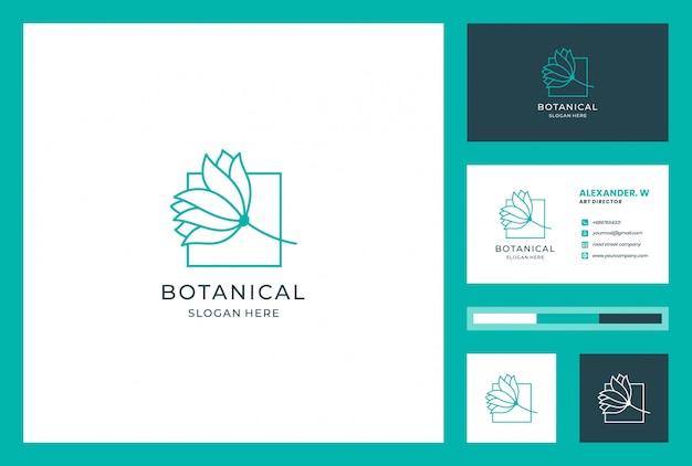 Blumenlogodesign mit strichgrafikstil. logos können für spa, schönheitssalon, dekoration, boutique, wellness, blüte, botanik und visitenkarte verwendet werden