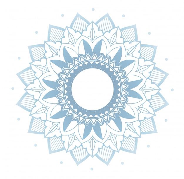 Blumenmandala auf weiß