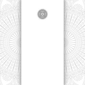 Blumenmandala. einfacher mandala-hintergrund mit kopierraum.