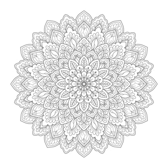 Blumenmandala illustration