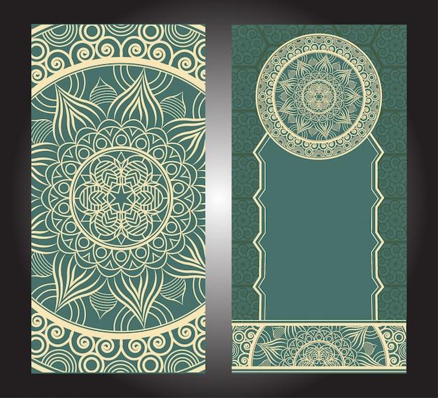 Blumenmandalahintergründe mit verzierungen. orientalisches design. asiatisch, arabisch, indisch,
