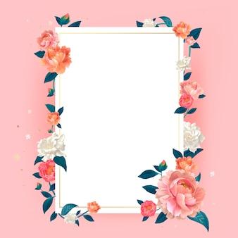 Blumenmodell-rahmenillustration