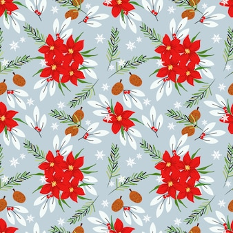 Blumenmuster der nahtlosen weihnachtspoinsettia