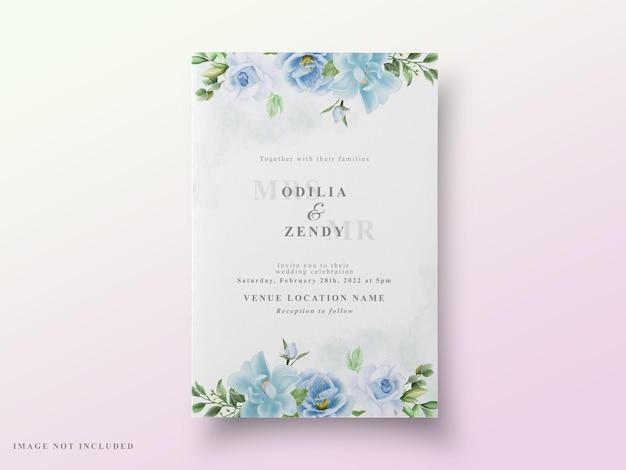 Blumenmuster des hochzeitskartengrüns