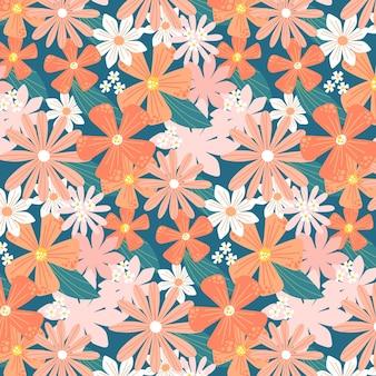 Blumenmuster-design in pfirsichtönen