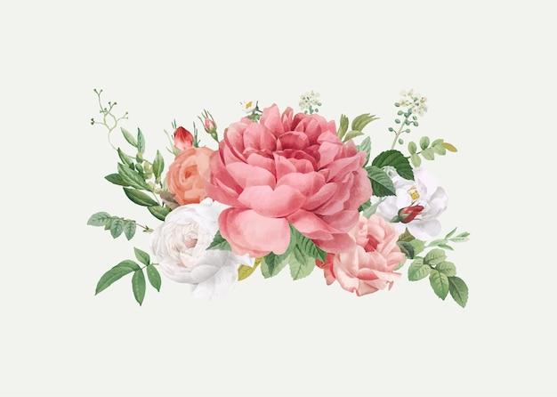 Blumenmuster hochzeitseinladung
