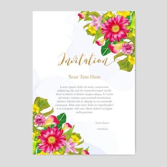 Blumenmuster hochzeitseinladungskarte