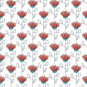 Blumenmuster im skandinavischen stil. textur mit blumen und pflanzen. blumenornament.