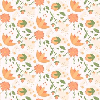 Blumenmuster in pfirsichfarben