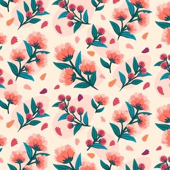 Blumenmuster in pfirsichtönen
