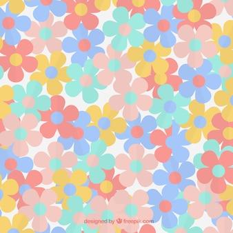 Blumenmuster in weichen farben