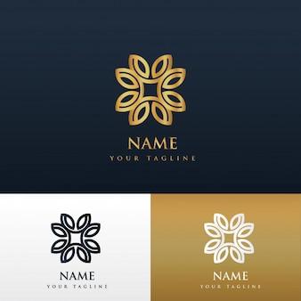 Blumenmuster Luxus-Logo-Design-Konzept