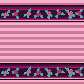 Blumenmuster mit rosen auf hellem hintergrund - nahtlose vektorillustration.