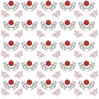 Blumenmuster mit rosen