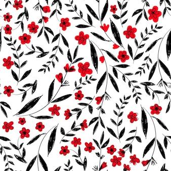 Blumenmuster nahtloser verzierungsvektor, blumenmuster.