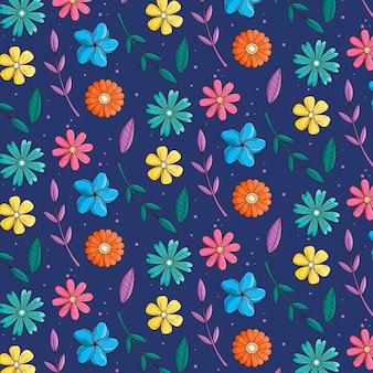Blumenmuster-sammlungskonzept