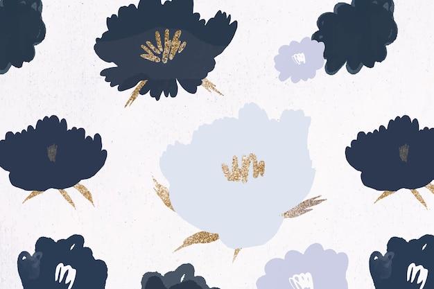 Blumenmusterhintergrundhandgezeichnet