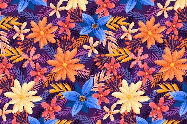 Blumenmusterkonzept