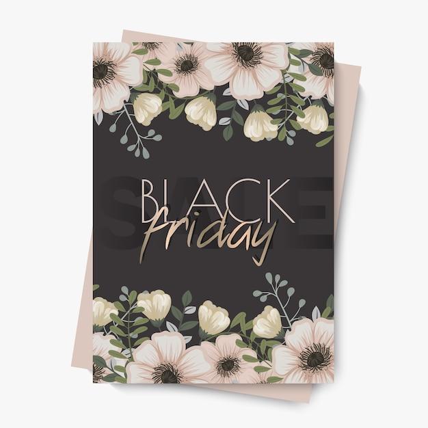 Blumenmusterschablone für schwarzen freitagsverkauf
