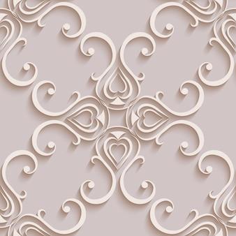 Blumenmustertapeten im stil des barock. kann für hintergründe und seitenfüllungs-webdesign verwendet werden. vektor-illustration