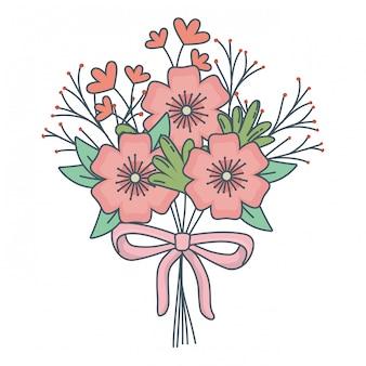 Blumennatur blüht karikatur
