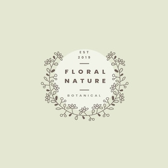 Blumennaturausweis-designvektor