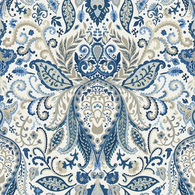 Blumenornamente und orientalischer blumenmotivvektor