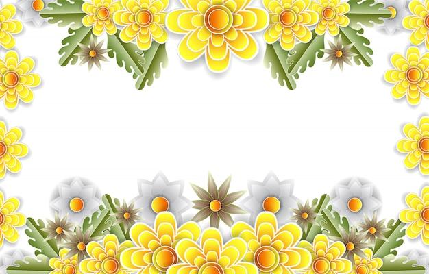 Blumenpapier geschnittener rahmen