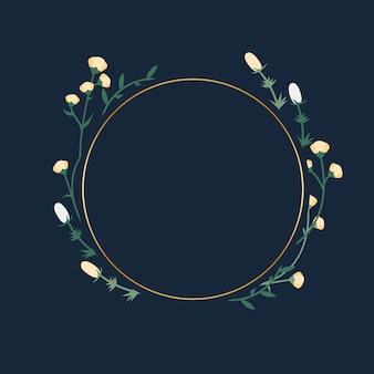 Blumenrahmen abzeichen