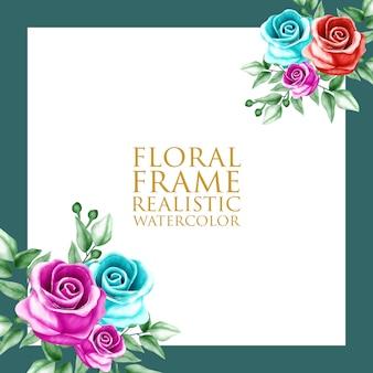 Blumenrahmen aquarell