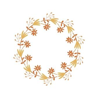 Blumenrahmen-design. vektor-illustration.