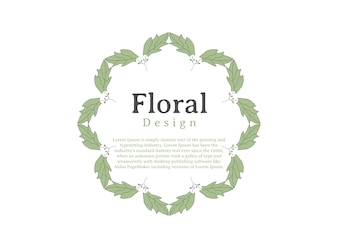 Blumenrahmen Design