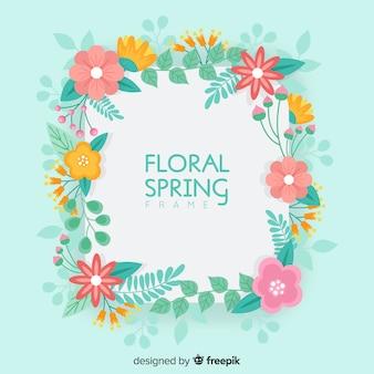 Blumenrahmen Frühling Hintergrund