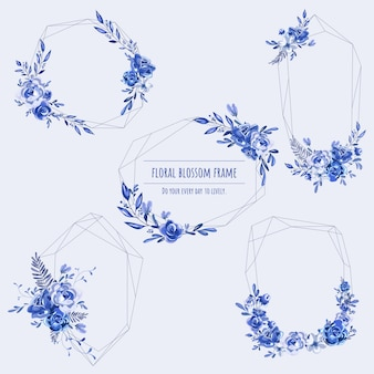 Blumenrahmen für einladungskarten und grafiken.