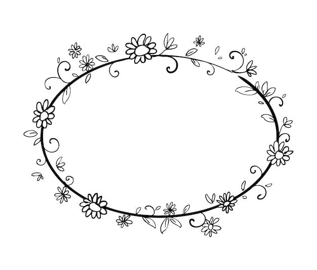 Blumenrahmen hand gezeichnet