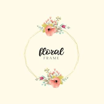 Blumenrahmen hochzeitseinladung