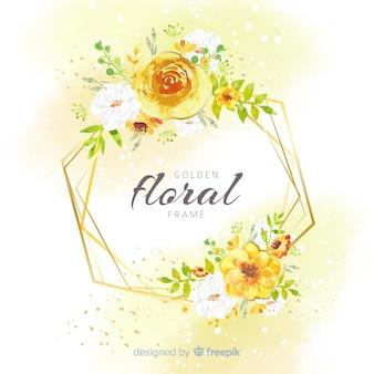 Blumenrahmen in der aquarellart