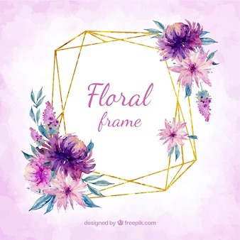 Blumenrahmen in Watercolot-Stil