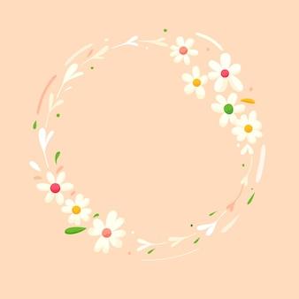 Blumenrahmen mit flachem designfrühling