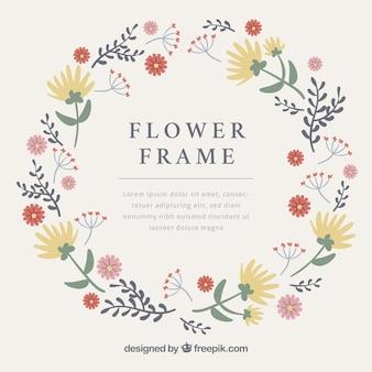 Blumenrahmen mit klassischem stil